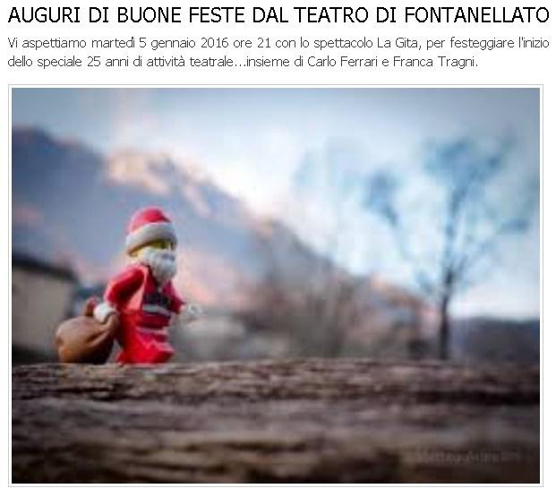 AUGURI DI BUONE FESTE DAL TEATRO DI FONTANELLATO