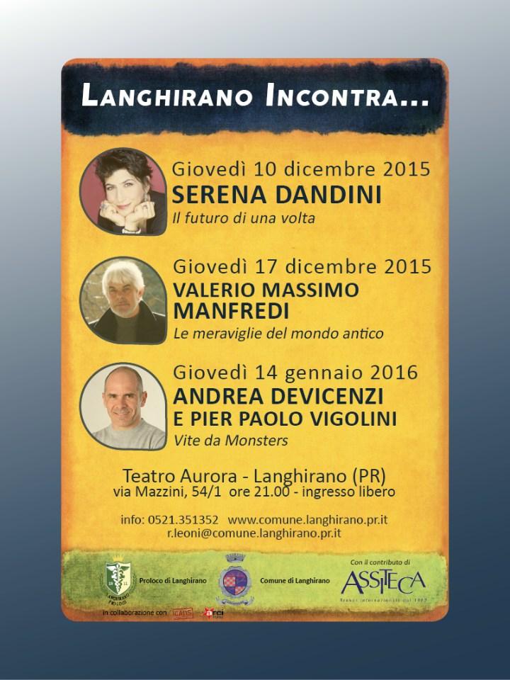 """""""Langhirano Incontra..."""" secondo appuntamento con VALERIO MASSIMO MANFREDI"""