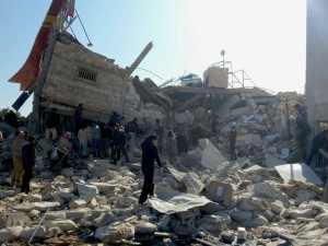 The MSF-supported hospital in Ma'arat Al Numan was attacked and destroyed on Monday 15th Feb. At least seven people were killed, and at least eight are missing, presumed dead. The 30-bed hospital had 54 staff, two operating theatres, an outpatient department and an emergency room. The outpatient department treated around 1500 people a month, the ER carried out an average of 1,100 consultations a month, and around 140 operations a month, mainly orthopaedic and general surgery, were carried out in the operating theatres. MSF has been supporting this hospital since September 2015 and covered all the needs of the facility including provision of medical supplies and running costs.