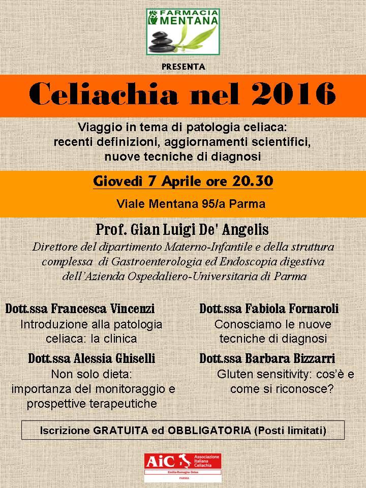 Aic Parma, celiachia nel 2016