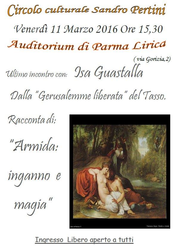 """"""" Armida: inganno e magia"""" racconto e letture a cura della prof.ssa  Isa Guastalla"""
