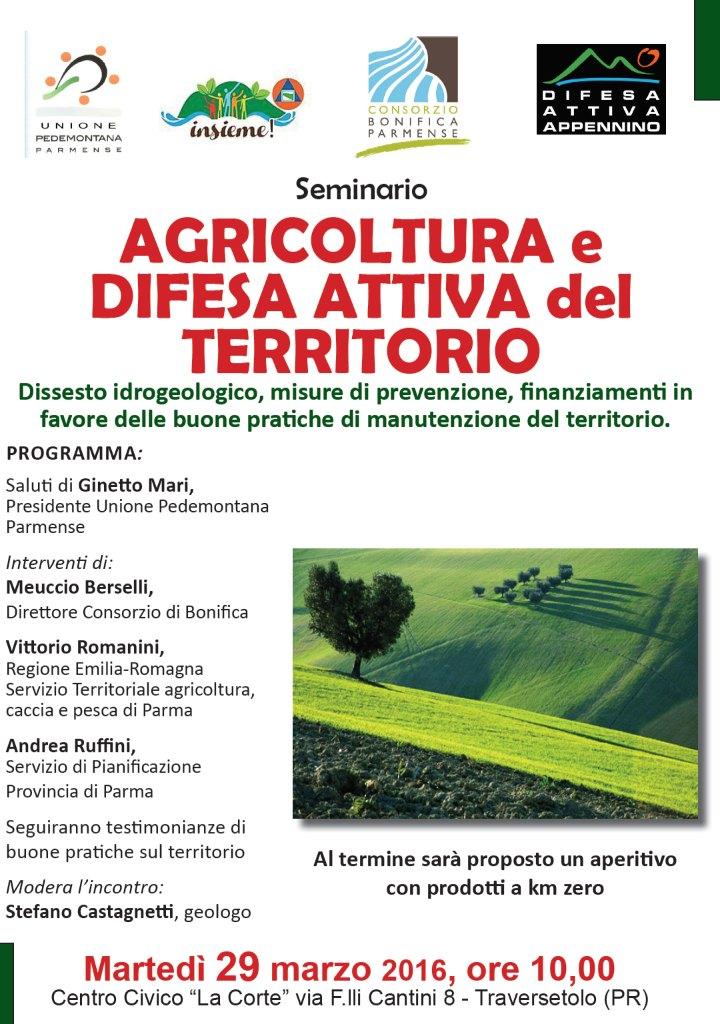 SEMINARIO AGRICOLTURA e DIFESA ATTIVA del TERRITORIO