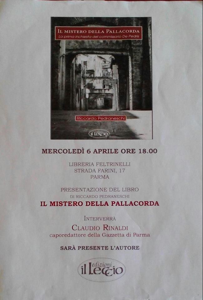 RICCARDO PEDRANESCHI ALLA FELTRINELLI