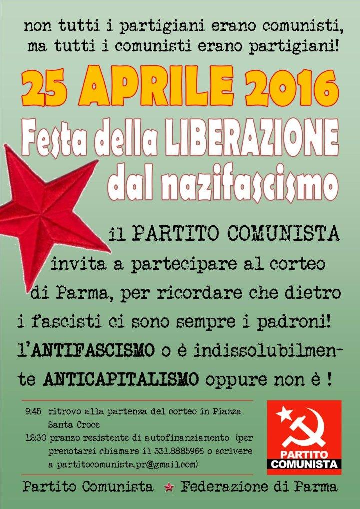 Parma, 25 Aprile 2016 - Con il Partito Comunista al corteo antifascista