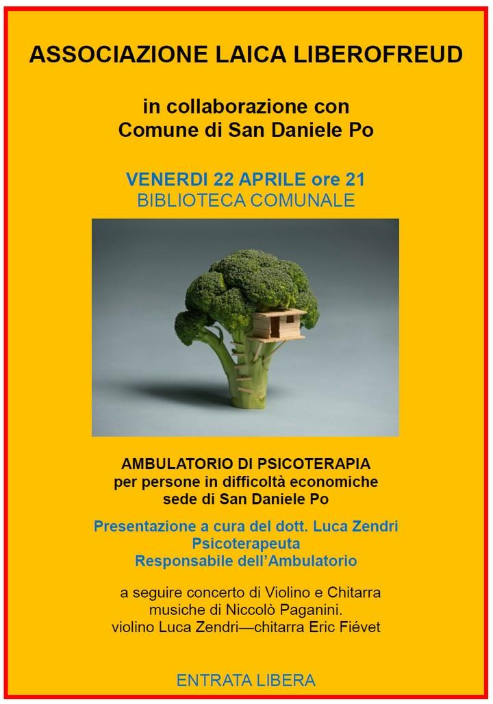 Presentazione ambulatorio di psicoterapia per persone in difficoltà economiche
