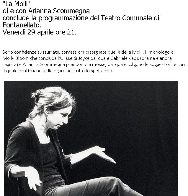 La Molli. Arianna Scommegna torna a Fontanellato.