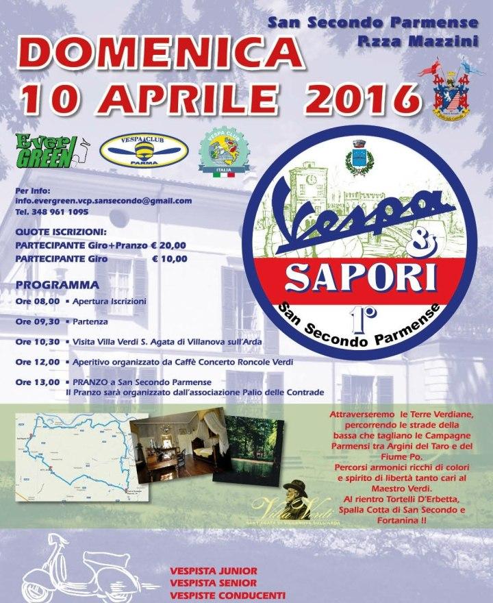 Vespa & Sapori- San Secondo-10 aprile 2016