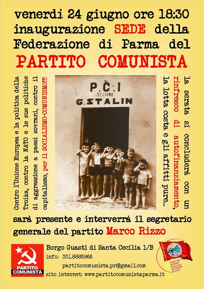 Parma - Inaugurazione della sede del Partito Comunista