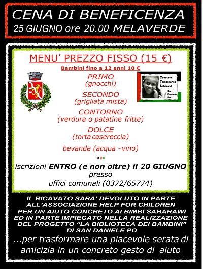 Comune di San Daniele Po - cena di solidarietà
