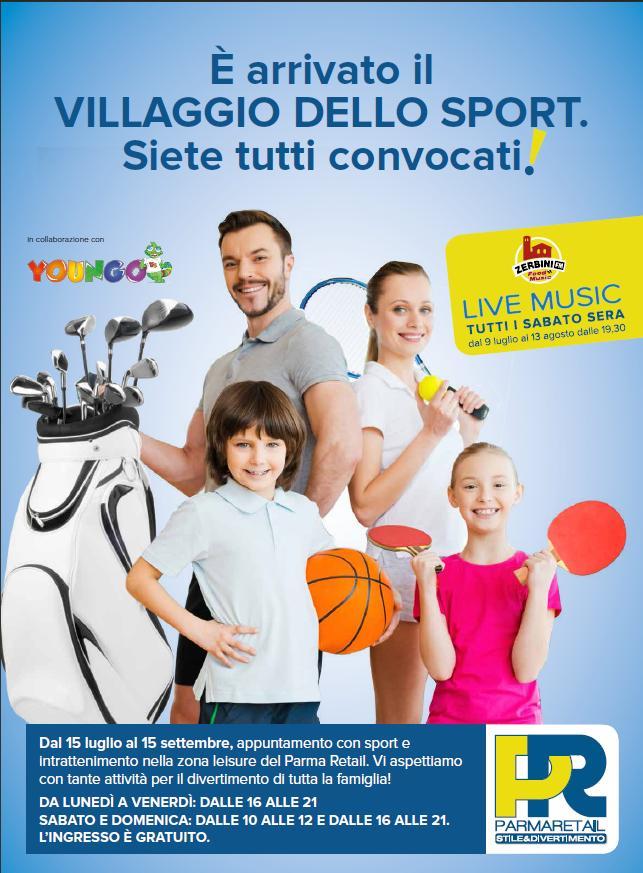 """La piacevole """"Estate in città"""" è a Parma Retail! - Divertimento per tutti, sport, musica e shopping: luglio e agosto al Parco Commerciale di Parma!"""