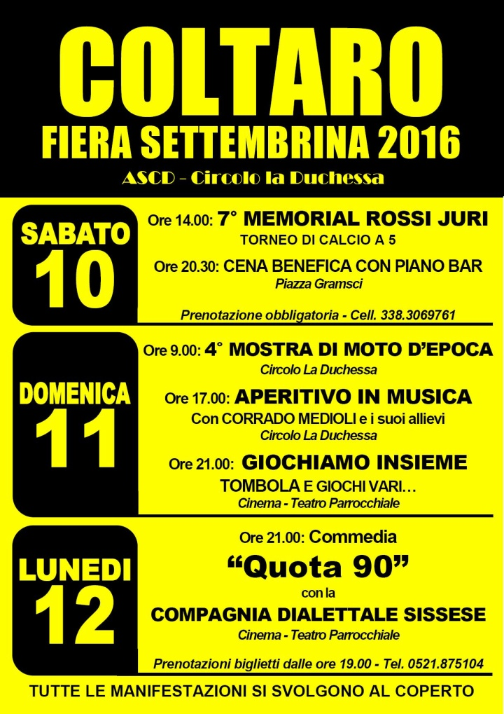 COLTARO Fiera settembrina 2016