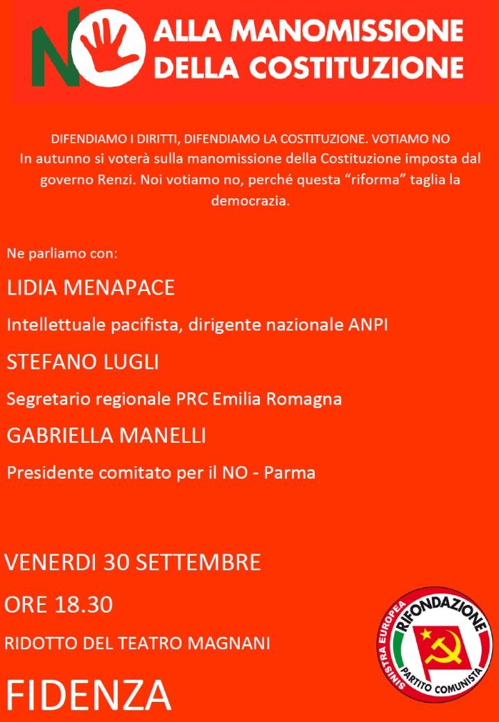 Referendum Costituzionale: dibattito pubblico con Lidia Menapace a Fidenza