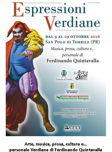 ESPRESSIONI VERDIANE - San Polo di Torrile, dal 9 al 29 Ottobre 2016