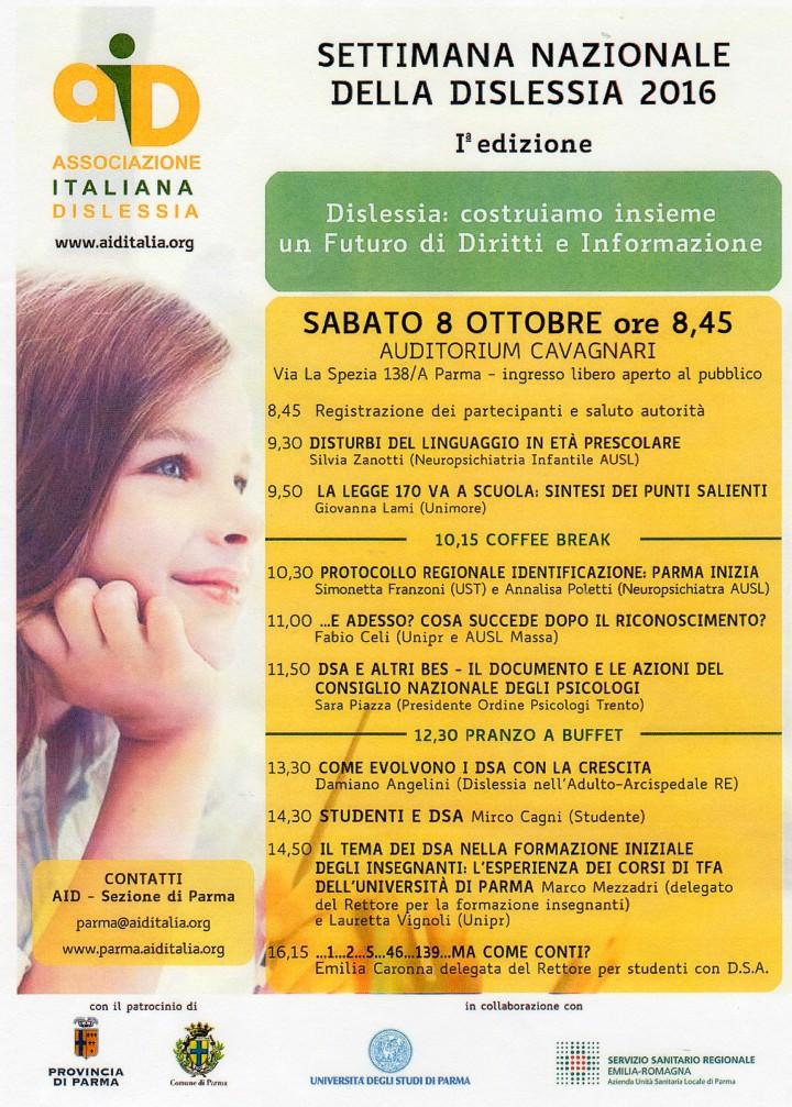 Settimana Nazionale della dislessia 2016 - Parma