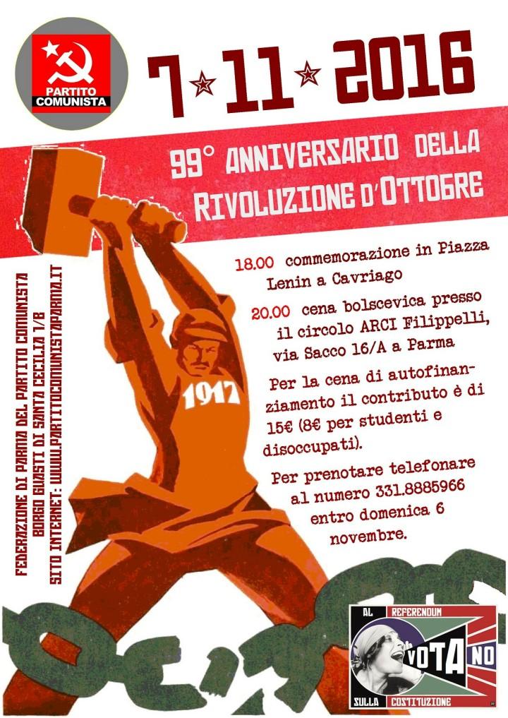 Cena per il 99° anniversario della Grande Rivoluzione Socialista d'Ottobre