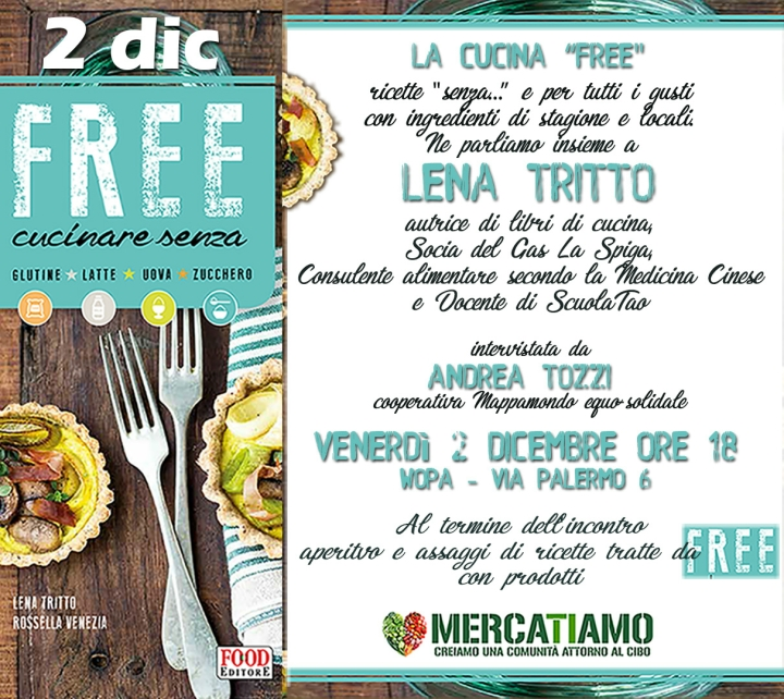 Free! Venerdì 2 dicembre al Wopa le ricette di Lena Tritto