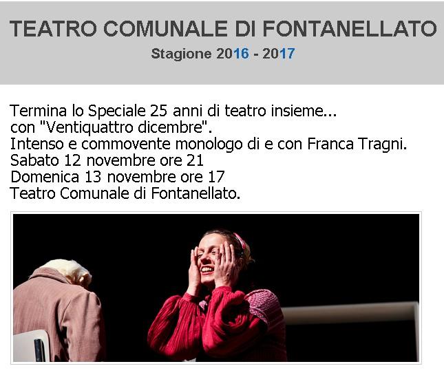 Intenso e commovente il monologo di Franca Tragni