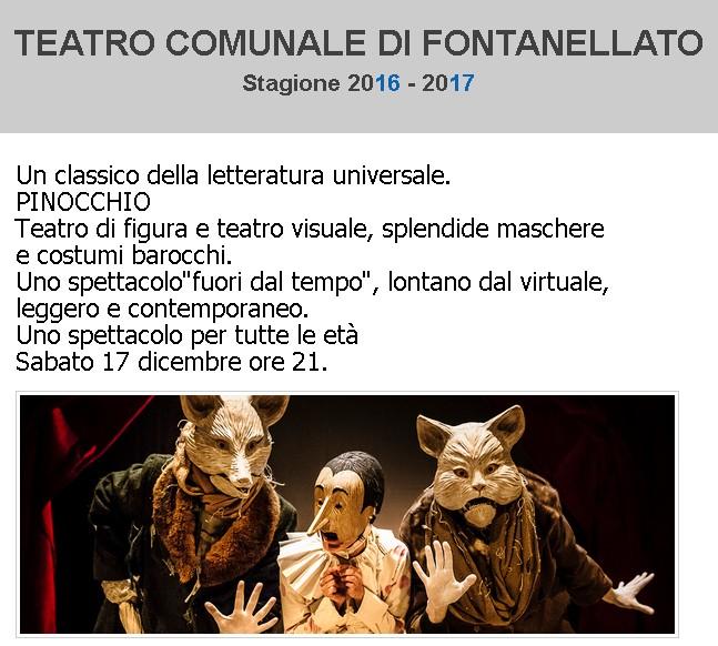 C'era una volta... Pinocchio al Teatro Comunale di Fontanellato
