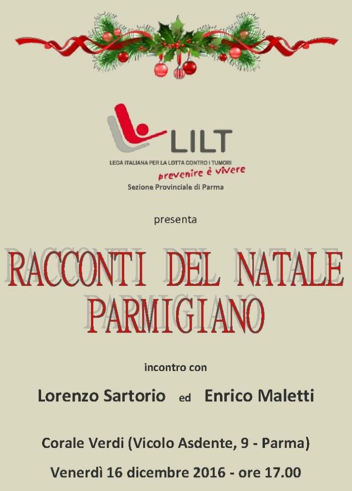 """""""LILT"""" Lega Italiana per la lotta contro i tumori presenta:   """"RACCONTI DEL NATALE PARMIGIANO"""""""