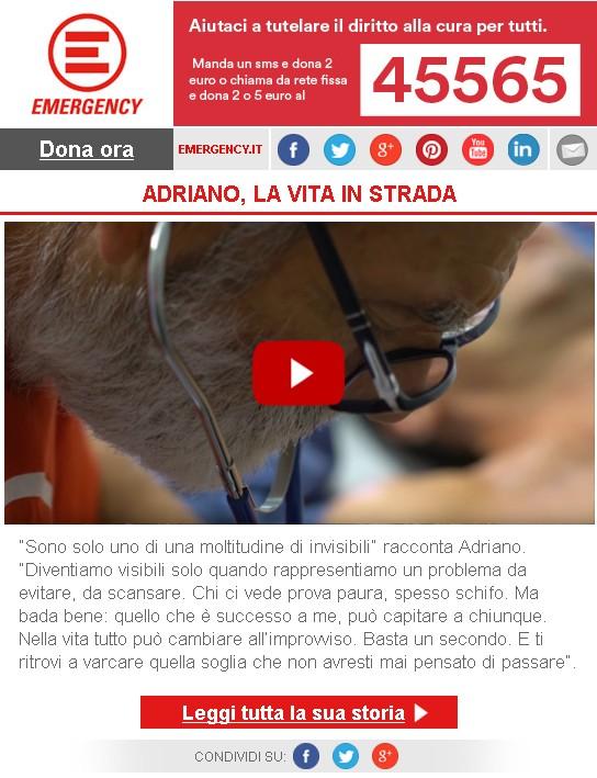 Adriano, la vita in strada