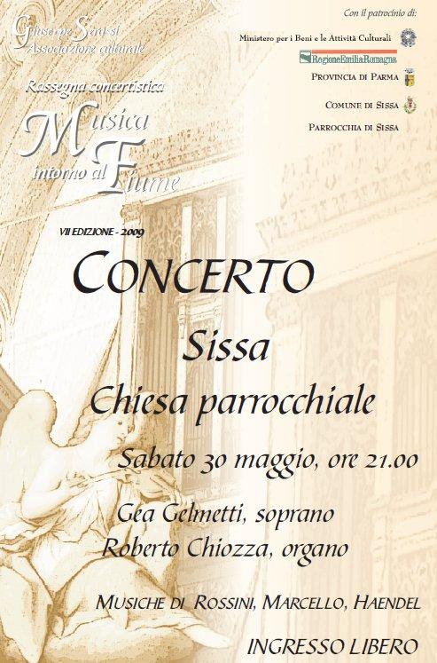 Musica intorno al Fiume, concerto a Sissa il 30 Maggio ore 21