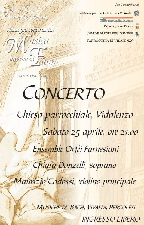"""Parrocchia di Vidalenzo, """" Musica intorno al Fiume """""""