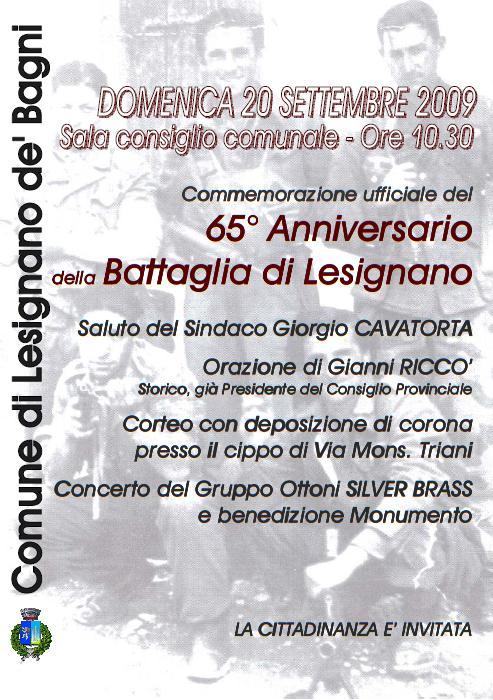 65° Anniversario della Battaglia di Lesignano