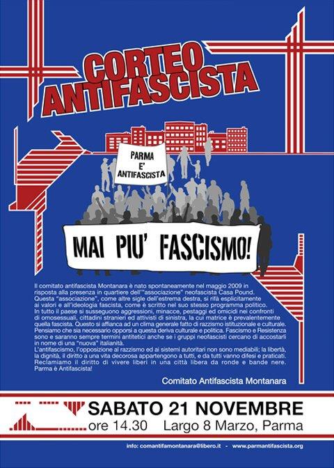 corteo antifascista Montanara