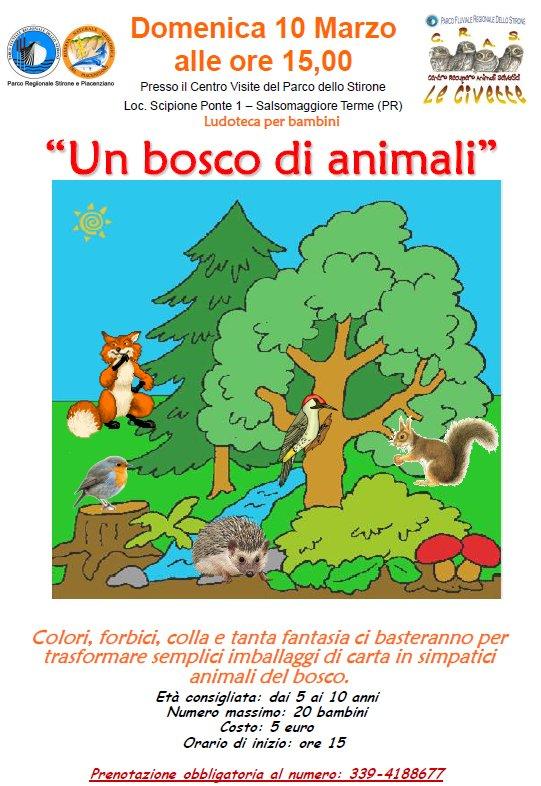 Un bosco di animali