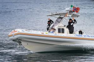 Sergio Davì in navigazione tra i fiordi norvegesi