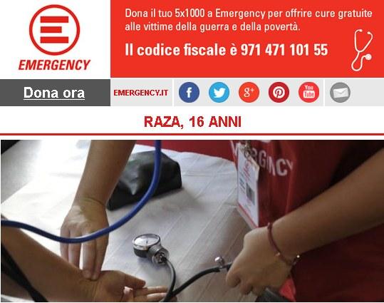 Emergency, RAZA, 16 ANNI