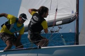 Alberto Pardini (a sinistra) e Andrea Faconti durante una regata