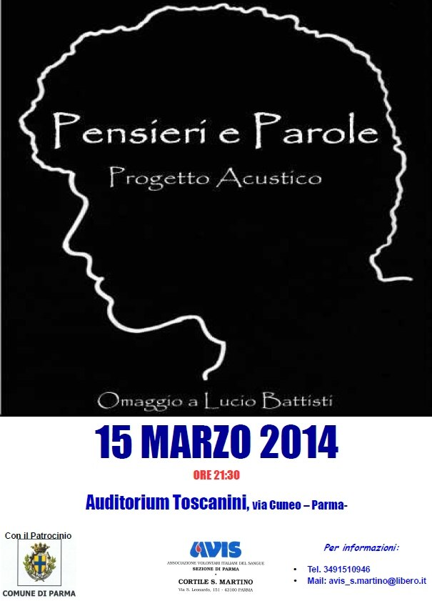 """""""PENSIERI e PAROLE"""" (Progetto Acustico omaggio a Lucio Battisti)"""
