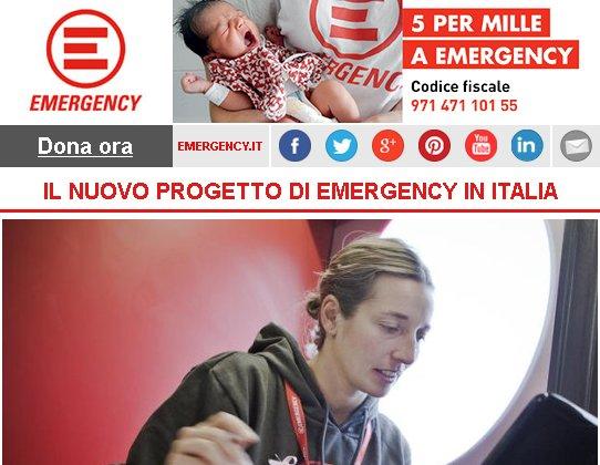 IL NUOVO PROGETTO DI EMERGENCY IN ITALIA