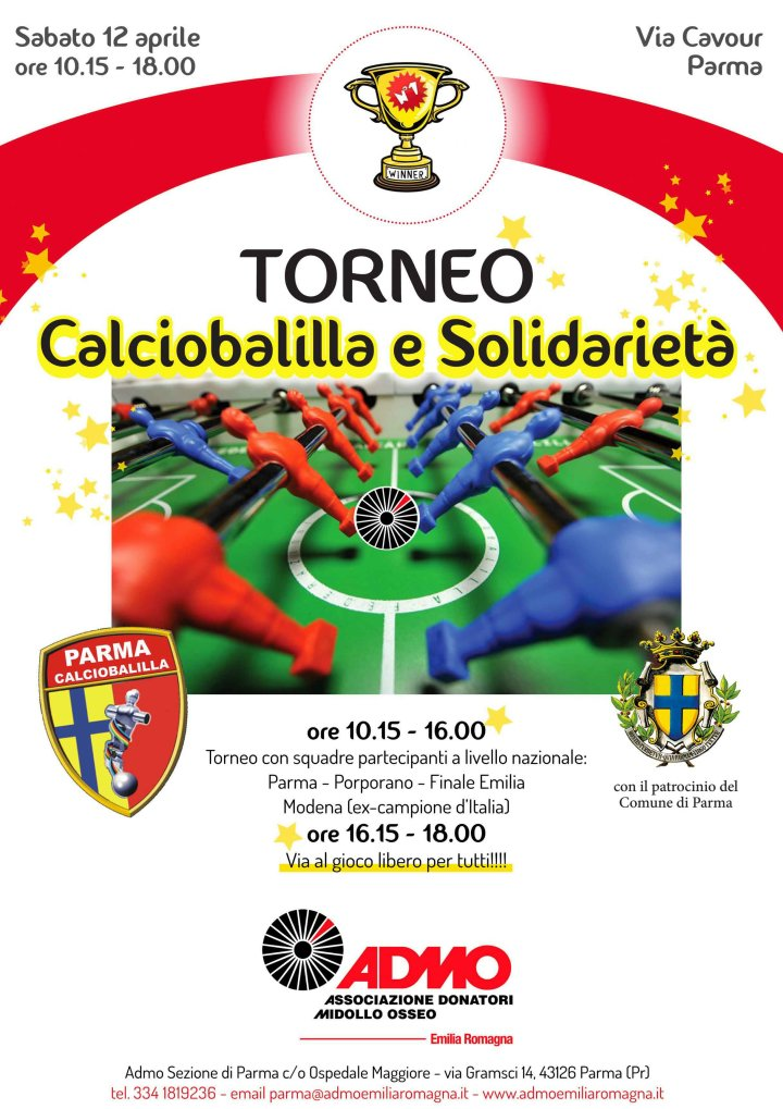 """admo """"1° Torneo di Calciobalilla e Solidarietà"""""""