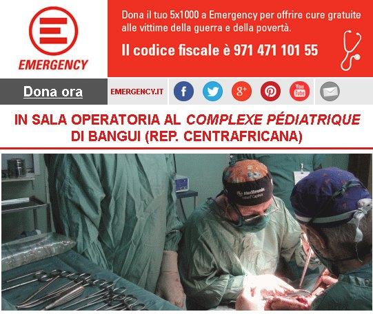 In sala operatoria al Complexe Pediatrique di Bangui