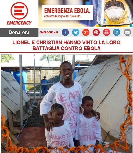Lionel e Christian hanno vinto la loro battaglia contro Ebola