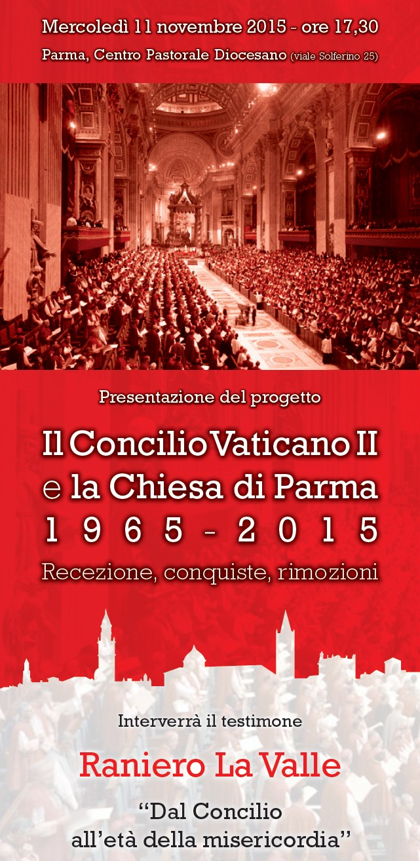Invito incontro per Concilio Vaticano II e Chiesa di Parma con RANIERO LA VALLE