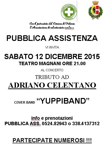 Teatro Magnani di Fidenza per ascoltare le più belle canzoni di Adriano Celentano in un concerto/spettacolo della nota cover band milanese Yuppiband