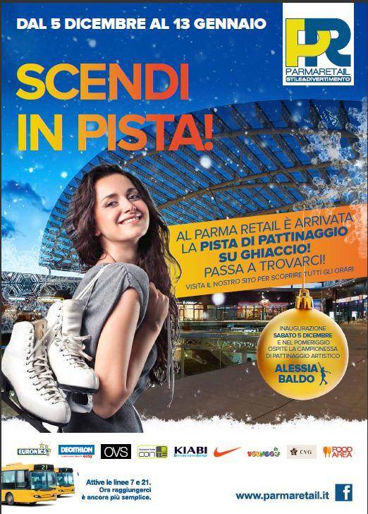 A Parma Retail apre la pista di pattinaggio