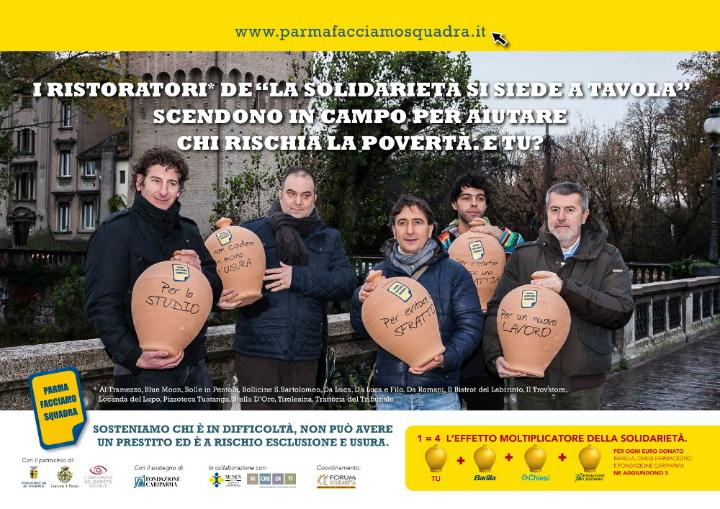 Parma facciamo Squadra: la solidarietà è a tavola