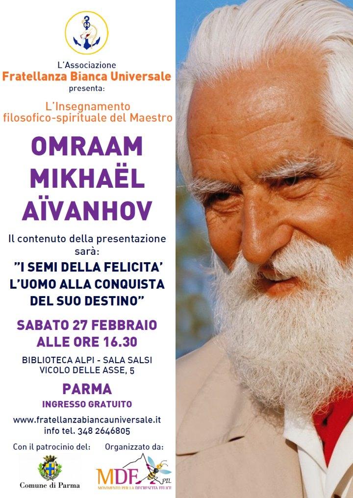 """Seminario """"L'insegnamento Spirituale del Maestro OMRAAM MIKHAËL AÏVANHOV"""""""