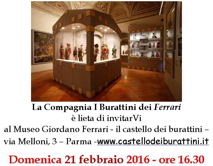 Museo Giordano Ferrari il castello dei burattini Via Melloni 3 - Parma