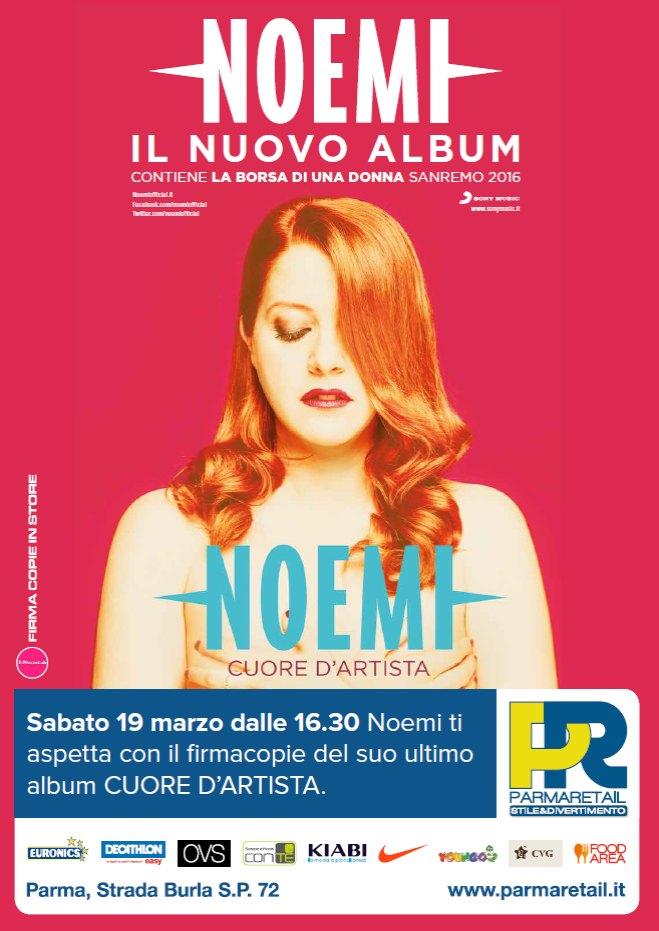 Il cuore di NOEMI a Parma Retail - presentazione ai fan del suo ultimo album