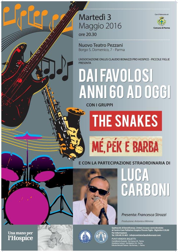 """il 3 maggio al Nuovo Teatro Pezzani con lo spettacolo : """" Dai favolosi anni 60 ad oggi """""""