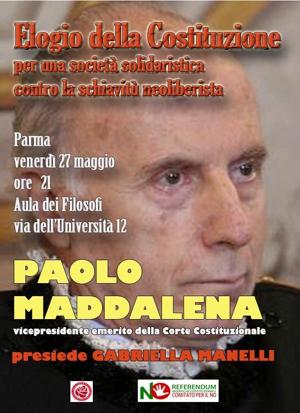 """incontro con Paolo Maddalena dal titolo """"ELOGIO DELLA COSTITUZIONE"""""""