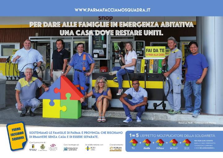 Con i Benzinai, un nuovo via a Parma Facciamo Squadra