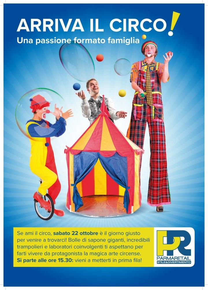 Parma Retail si immerge nei colori del circo sabato 22 ottobre