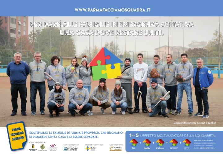 Gli atleti dell'Oltretorrente per Parma Facciamo Squadra
