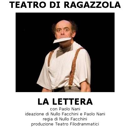 La lettera con Paolo Nani - sabato 10 dicembre Teatro di Ragazzola